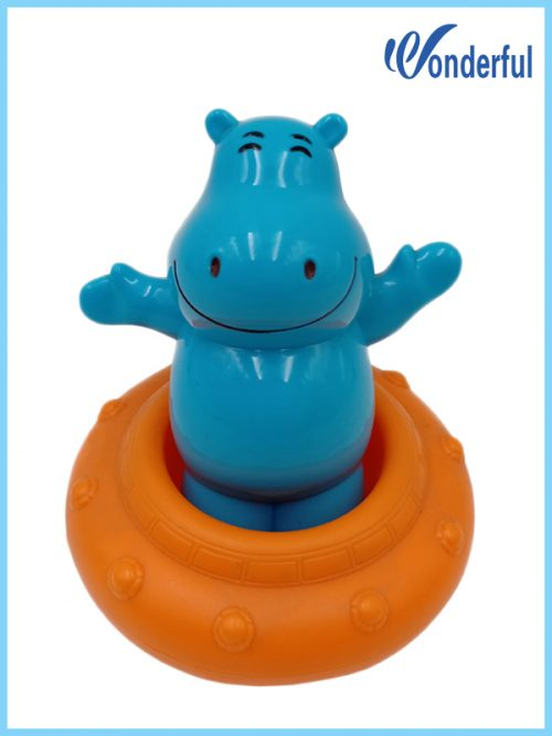 ABS wind up bath toys hippo