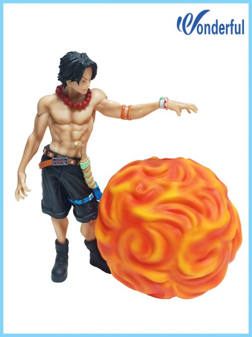 ONE PIECE Portgas.D Ace Figure piggy Banks,Vinyl money saving box
